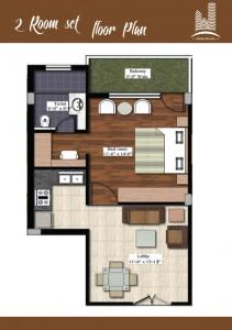 2 room set rental property